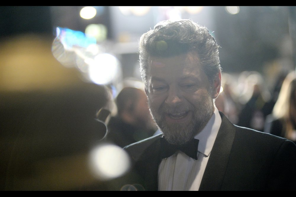 """I love how generous you are with the letter 's', but my name doesn't really have that many of them….""  - I most recently photographed Andy Serkis because his son was in    'The Kid Who Would Be King'    but he's also directed (   'Breathe'   ) and has been a mocap subject in Lord of the Rings, King Kong and Planet of the Apes."