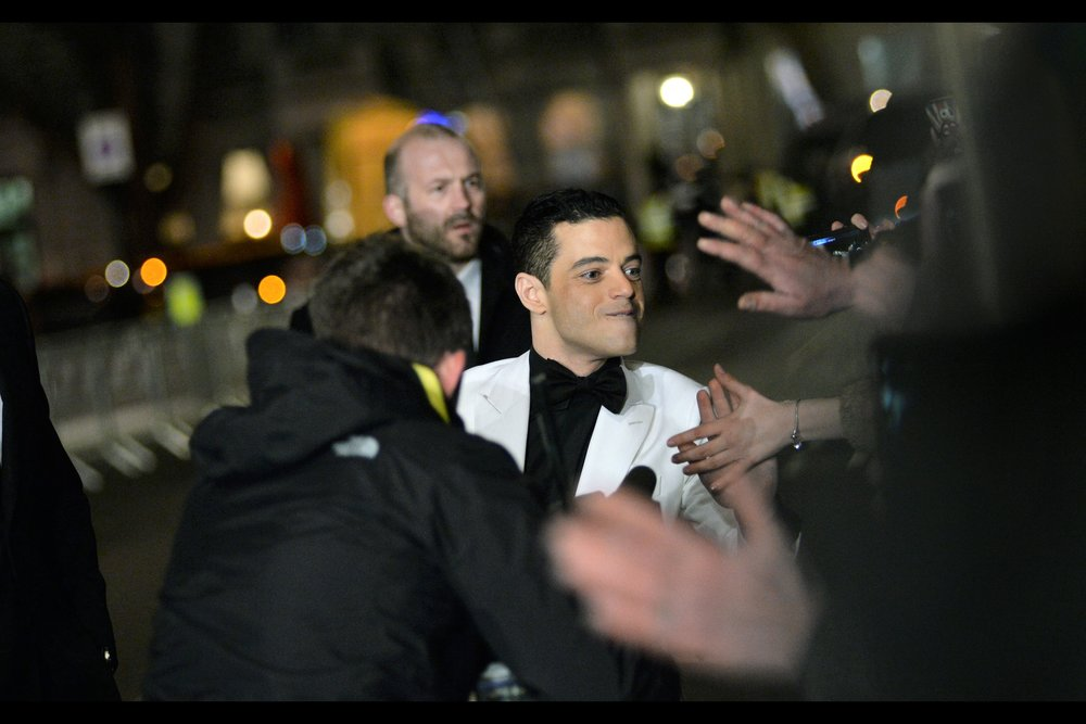 A row of hands for high-fiving Rami Malek? Eh… I'll put the camera down for that. He was great in Bohemian Rhapsody.