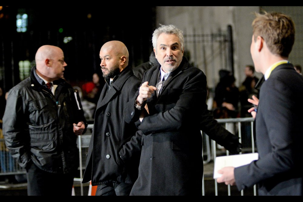 """Your website? It's pretty cool - though for legal reasons the definitions of ""your"" and ""cool"" might need to be clarified. By my lawyers. Not me""  It's Alfonso Cuaron : he directed 'Gravity' and the third Harry Potter Movie - but    his film 'Roma' took home not one but FOUR Baftas on the night    - Best Film, Best Foreign Film (!), Best Director and Best Cinematography. Given he wrote, directed AND was cinematographer for it… it was kind of a good night for Mr Cuaron."