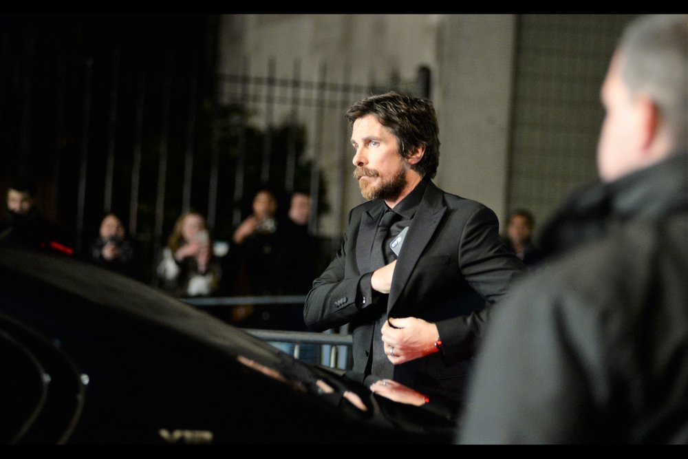 """I've got it right here… but if it turns out I'm sitting next to somebody boring, I reserve the right to leave without notice""  - it's Christian Bale, nominated (along with Amy Adams) for ""Vice"""