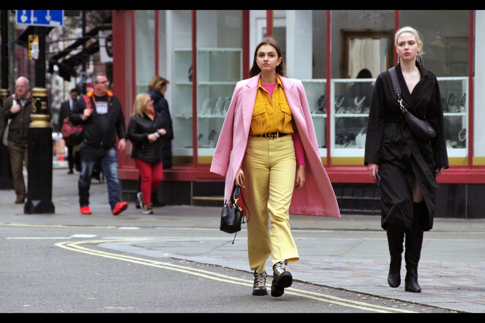 """And what's the reason they let ugly people photograph pretty people at London Fashion Week?"" ""Well, if everyone was pretty, then nobody would be photographing anyone, and how would we get on instagram otherwise?"" ""Oh, right…."""
