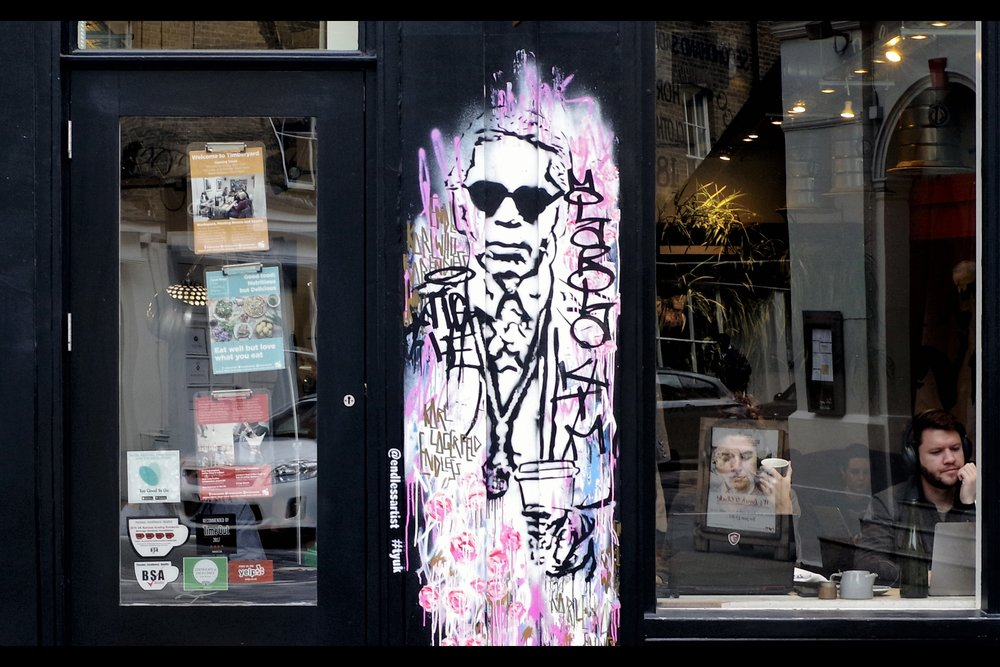 And finally, on Day 5 of LFW, it was also the death of fashion icon Karl Lagerfeld, who I was lucky enough to photograph (at the    2015 Fashion Awards   ), but this mural has been outside 'TY Seven Dials' for at least the past year.
