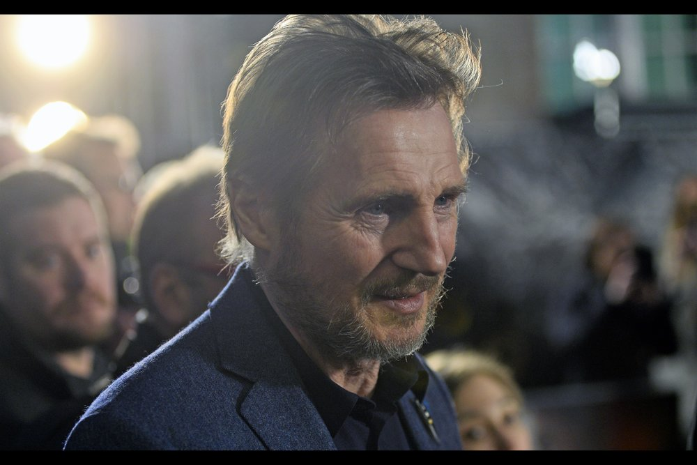 Some days you get within arm's length of Liam Neeson… and sometimes your camera's lens gets even closer. Eye contact not guaranteed, though.