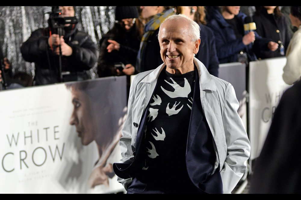 """The T-shirt? It's barely keeping me warm, but it's not for sale""  - Wayne Sleep is (I believe) a dancer/choreographer."