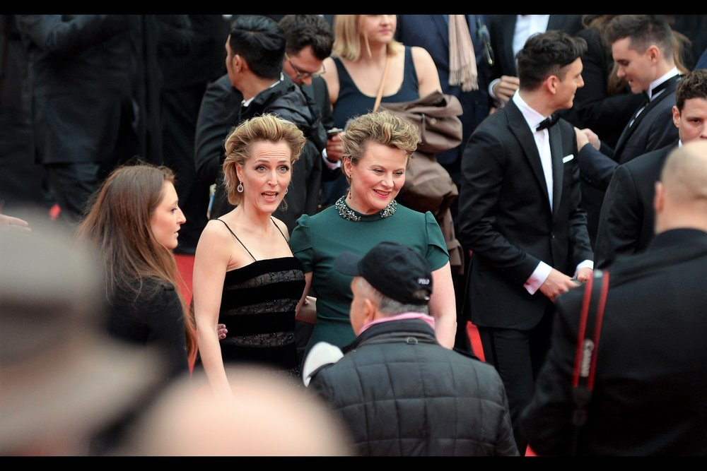 "It's only because I occasionally walk past the Noel Coward Theatre in London that I know Gillian Anderson is currently in <checks online> ""All About Eve"" with Lily James. Who sadly did not attend the Oliviers. Or, if she did, count me as much sadder."