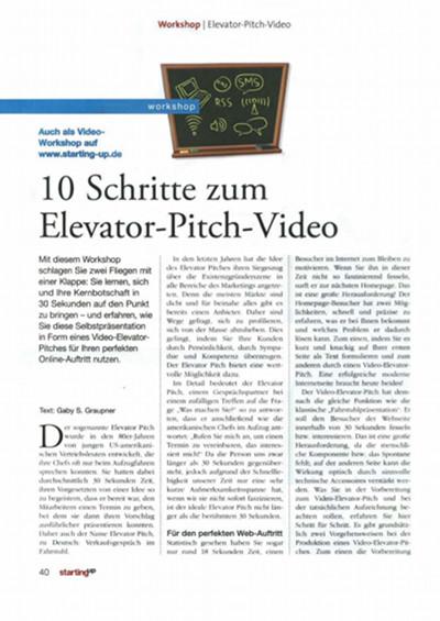 10 Schritte zum Elevator-Pitch Video