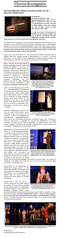 Rhetorikmagazin - Juli 2013