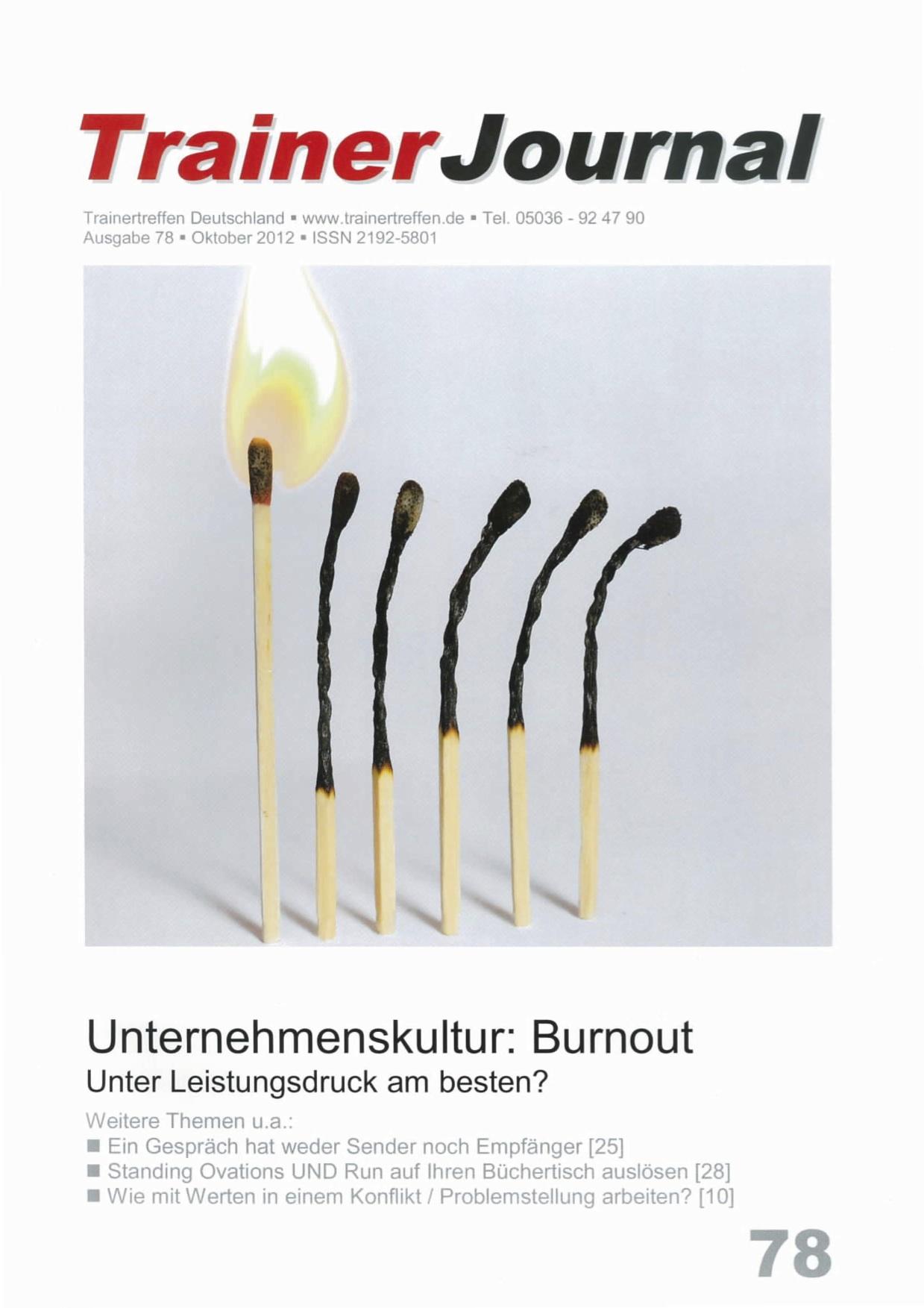 TrainerJournal - Ausgabe Oktober 2012