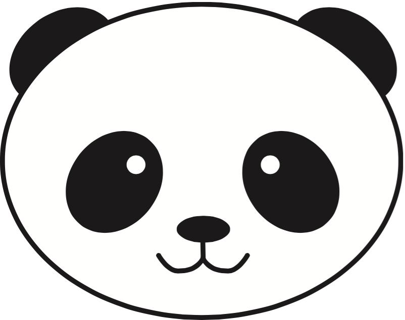 simple panda clipart - photo #19