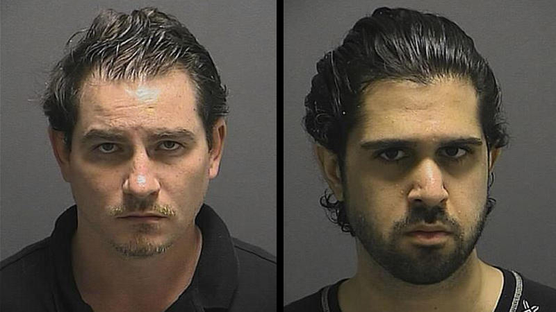 From left, James Michael Warhurst, 32, of Manassas, Va., and Ali Reza Rohanimanesh, 28, of Front Royal, Va., were arrested on Nov. 5 in Laurel. (Howard County Police Department)