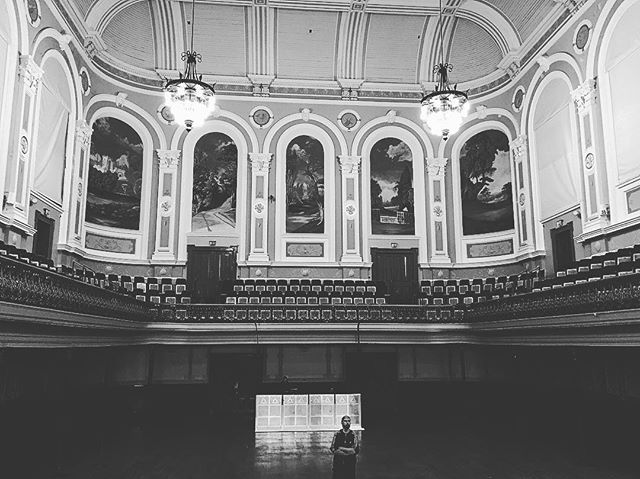 Earlier in the week I stood on this stage for the first time ever. It reminded me of my dream when myself (Neil) & @glynas2085 first stared the Armada. It was and still is to sell out #belfast ' Ulster Hall. There's no doubt over the last 6 years we've made some great progress and had some great times... fingers crossed some day we'll get to do it! #goodluck #fingerscrossed #ulsterhall #music #ireland #belfast #dream #dreambig