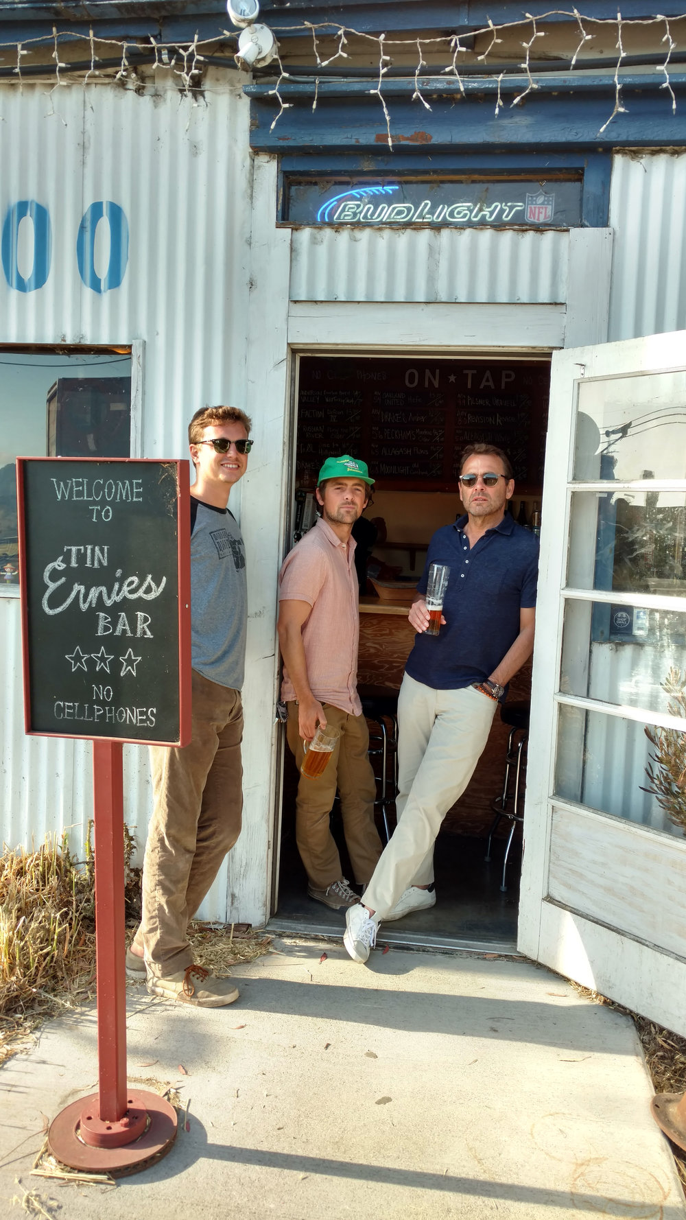 Father/Sons bonding over suds at Ernie's Tin Bar…Petaluma, CA