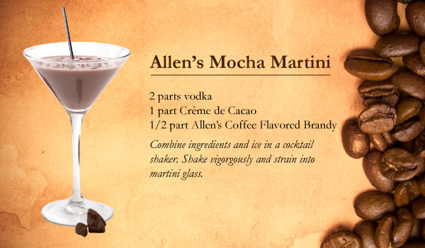 Allen's Mocha Martini made with Allen's Coffee Flavored Brandy