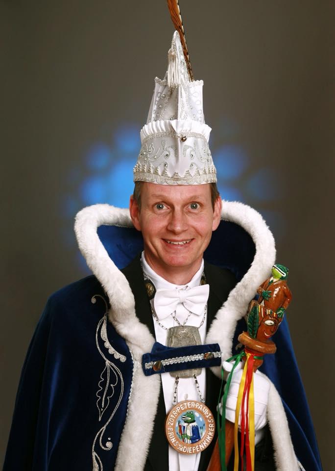 Prins Peter-Paul d'n Urste!!!🐸🐸 Prins van de diepenkikkers in milsbeek (OVG lid van Het hof mannenmode)