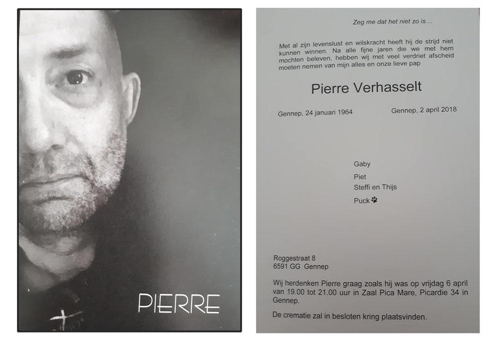 Namens alle OVG leden wensen we alle naasten heel veel sterkte met het verlies van Pierre Verhasselt.