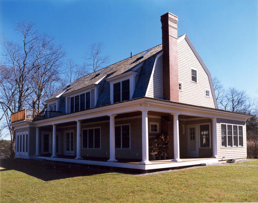 Gambrel shingle style house