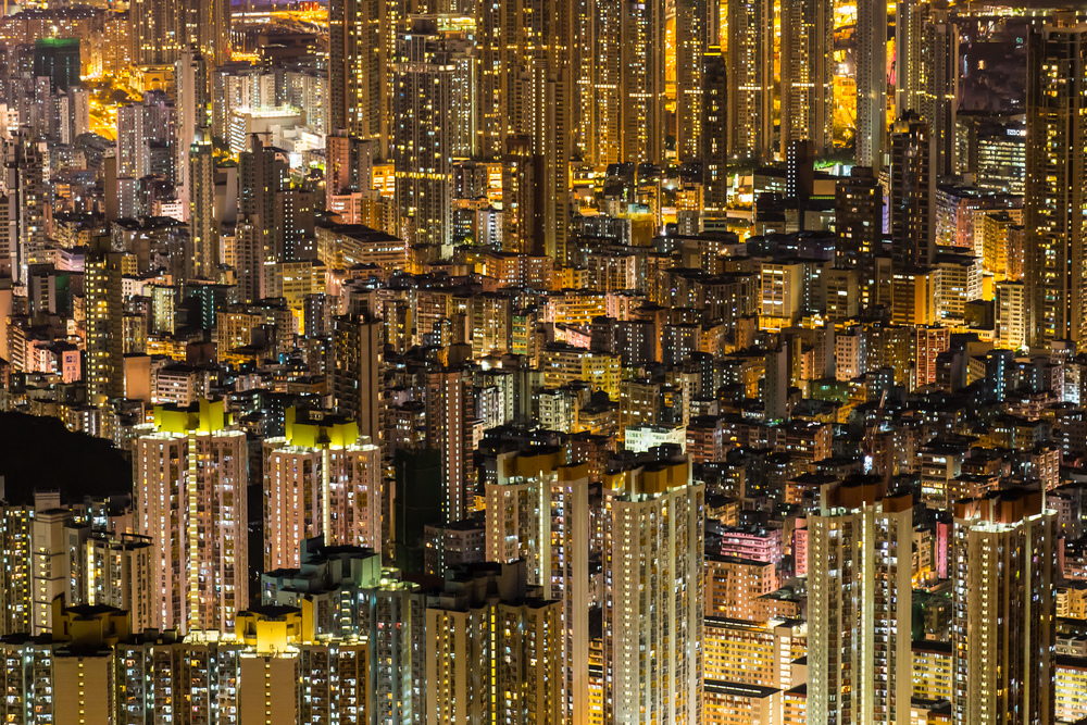 """Magic Eye""     National Geographic - ""Photo of the Day""   20.07.2014 National Geographic International Website   http://photography.nationalgeographic.com/photography/photo-of-the-day/architecture-night-hong-kong/"