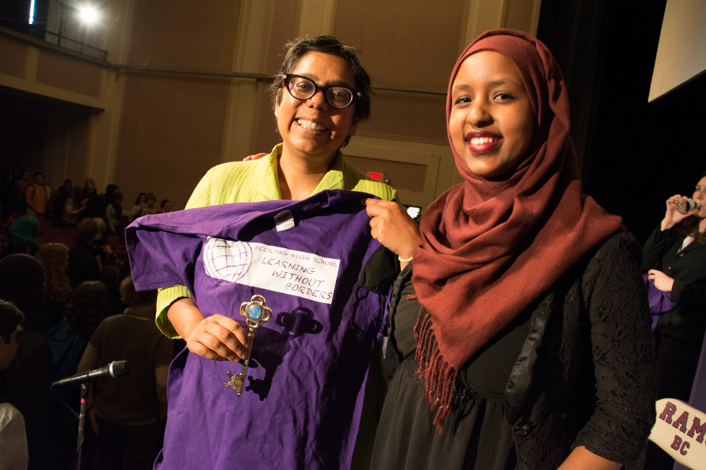 2015 Speaker Ruchira Gupta at Deering High School in Portland