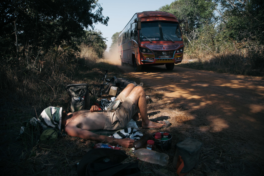 Catching  some rest in the midday heat. Aswell as a dusting from a freak Bus.