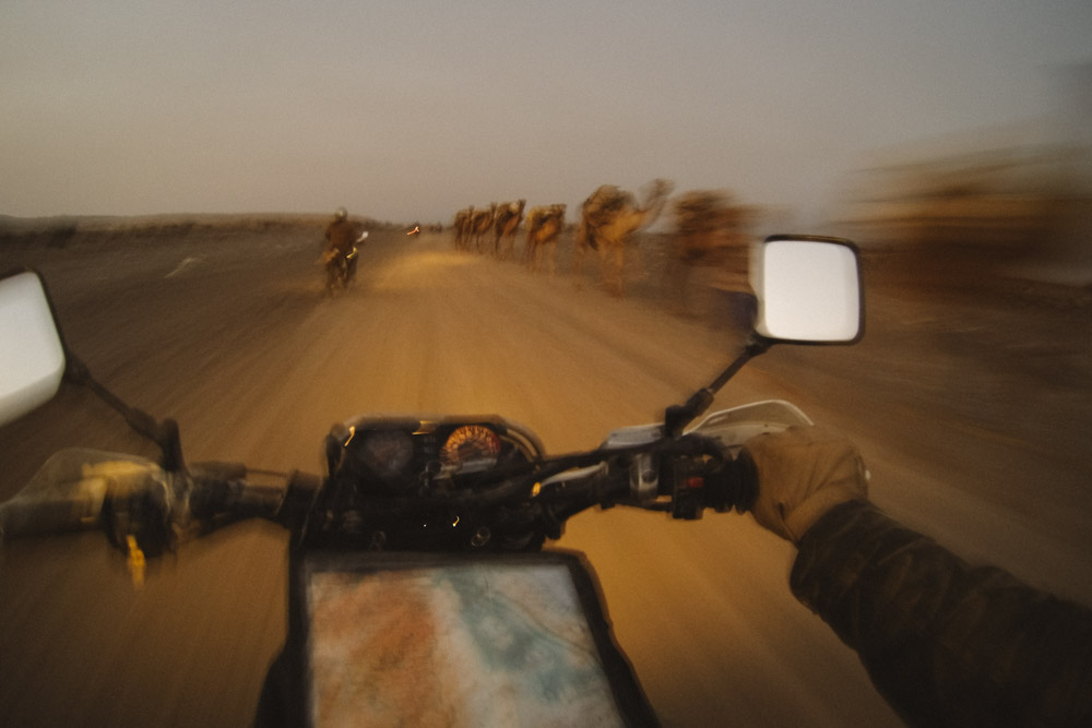 Desert warp speed, Ethiopia.