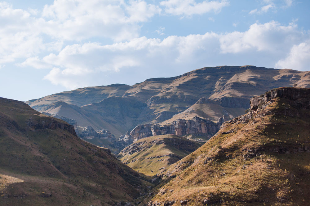 The foot hils of the Sani Pass, our passage into Lesotho