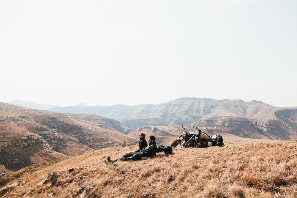 A windy lunch stop in Golden Gate Highlands National Park