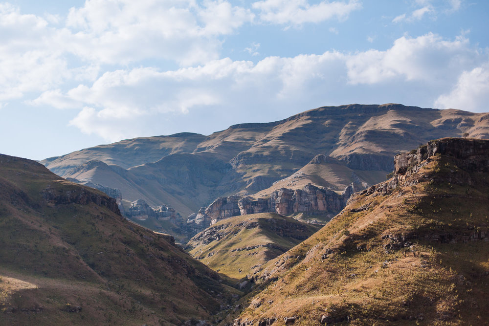 The foot hils of the Sani Pass, our passage into Lesotho.