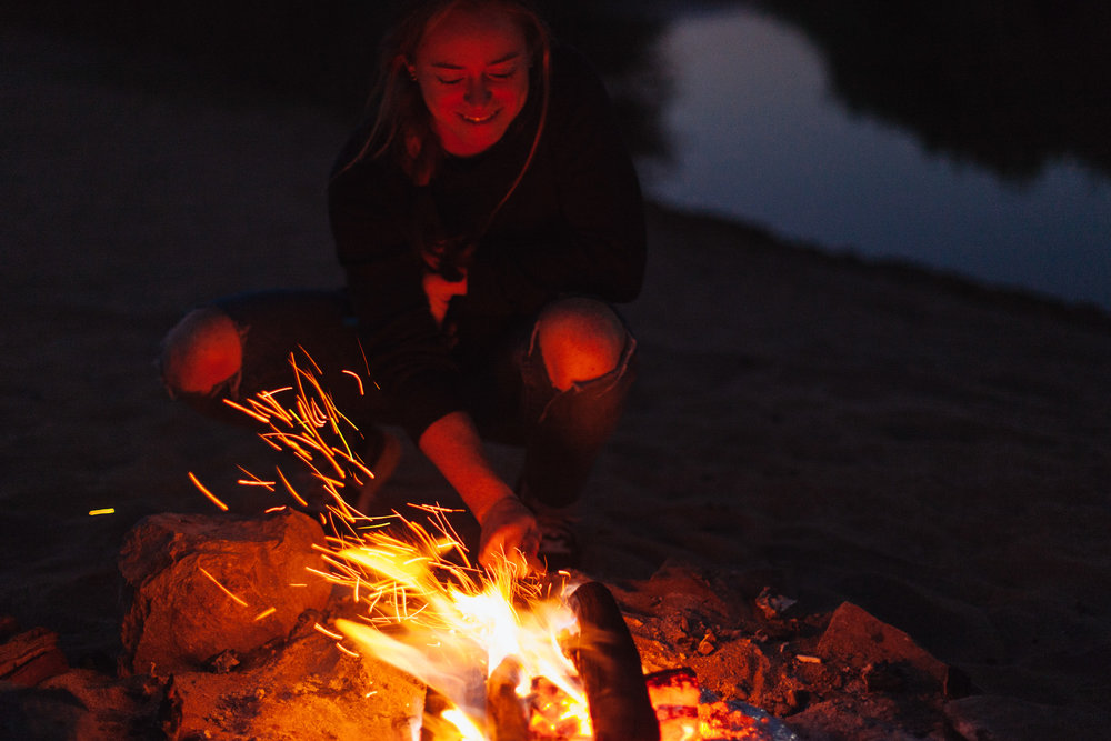 We set up camp on the banks of the Orange River.