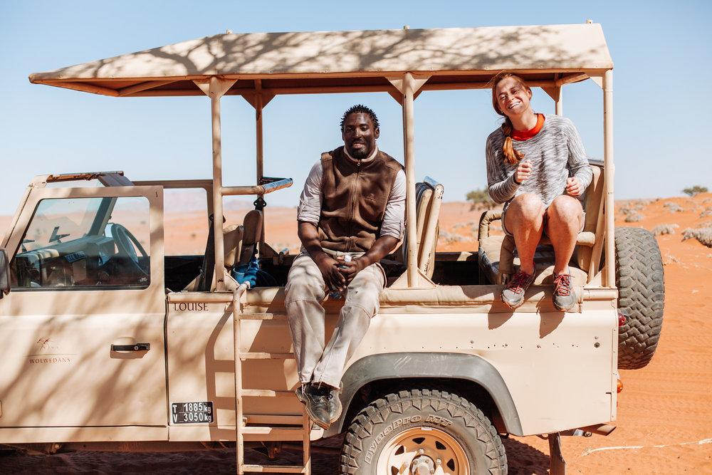 Jason, pro footballer turned safari guide.