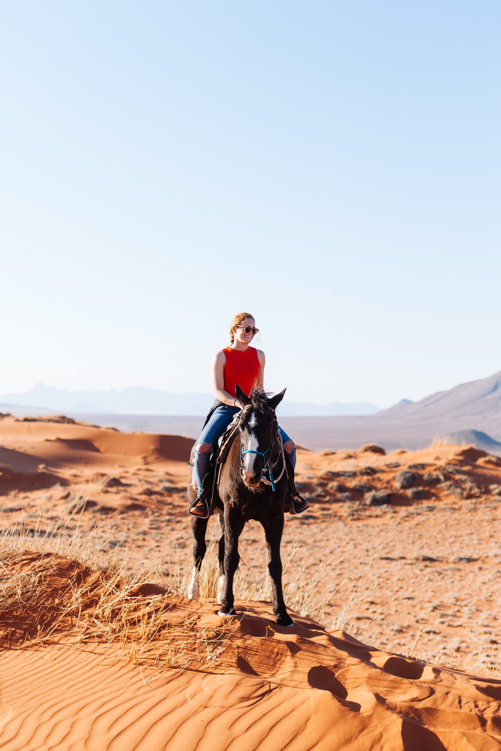 One last dune hike, but this time on horses!