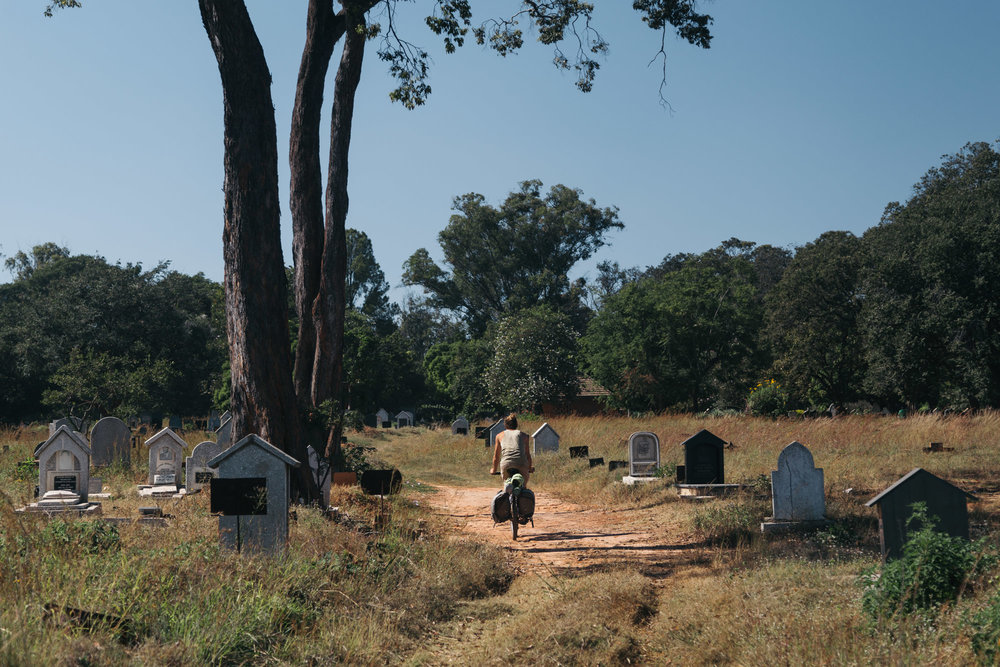 The one advantage with camping in a cemetery is that we are the only fools to be hanging out there at night.