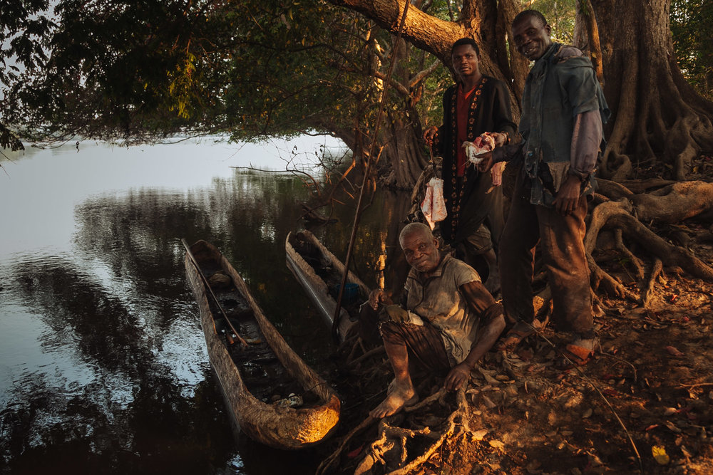 Fishermen offering us their fresh morning catch.