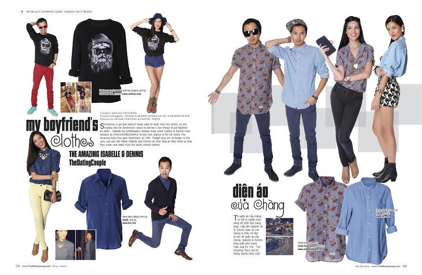 VietBeauty Magazine My Boyfriend's Clothes Dennis Hour Isabelle Du