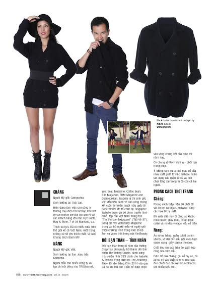 VietBeauty Magazine My Boyfriend's Clothes Dennis Hour Isabelle Du 2