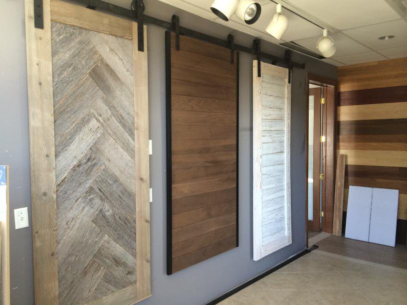 Thermal Treated Poplar Interior Barn Door, c Woodstock Architectural Products