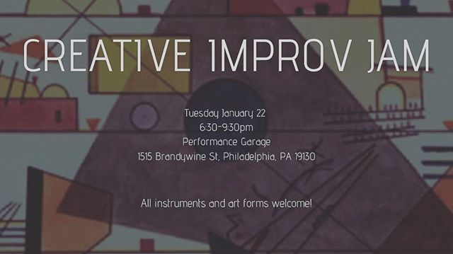 I'm co-hosting a free improv Jam in Philly tomorrow night. We're integrating all art forms if possible. Come on out and let's make some magic.