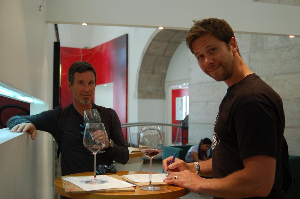 Assessing wine at   Vini Portugal   in Lisbon.