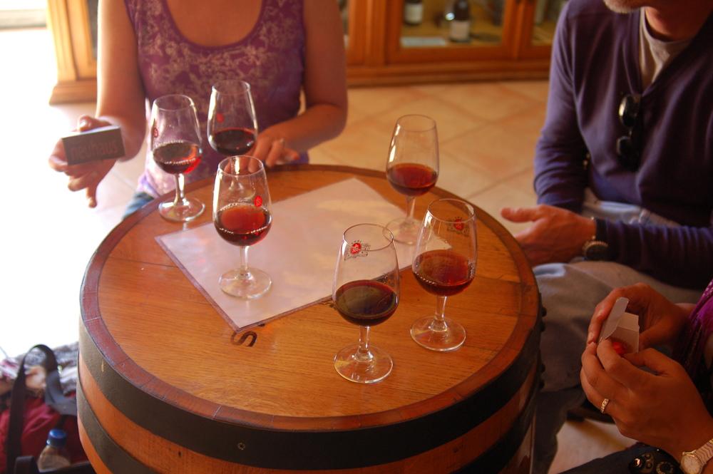 A flight of Port wines and chocolate at  Taylor Fladgate  in Villa Nova de Gaia, Portugal.