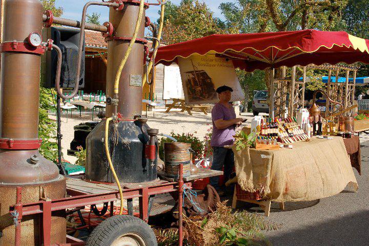 A mobile boileur (distiller) at a  Fête de la Châtaigne  (Chestnut Festival) in SW France.