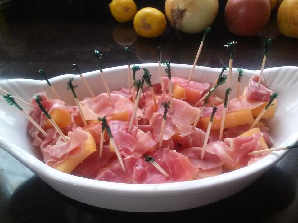 Ripe Cantaloupe and Prosciutto.