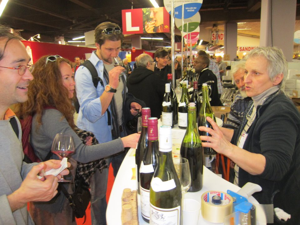 At the  Salon des vins des Vignerons Indépendants  in Paris.