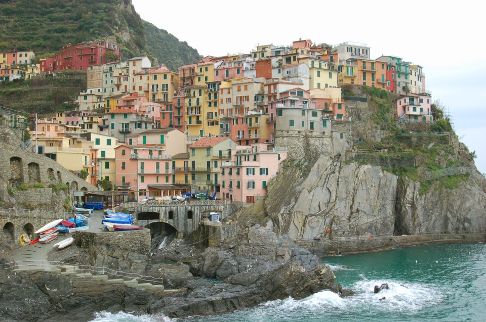 The town of  Manarola  in the Cinque Terre, Italy.