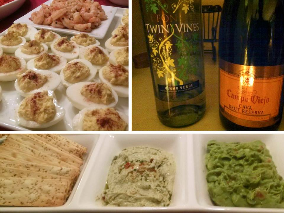 ...or how about homemade deviled eggs, and rock shrimp with red pepper and garlic? That's how we eat at a WL event!