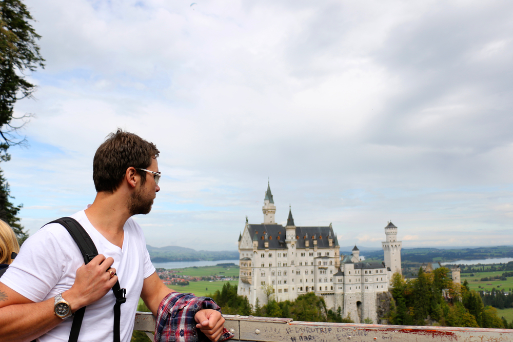 Visiting Neuschwanstein castle in Schwangau, Germany.