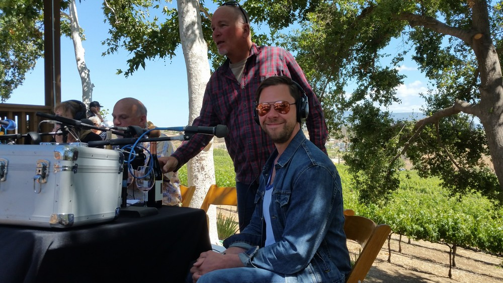 Doing a radio interview at  Hart Winery  in Temecula, CA.