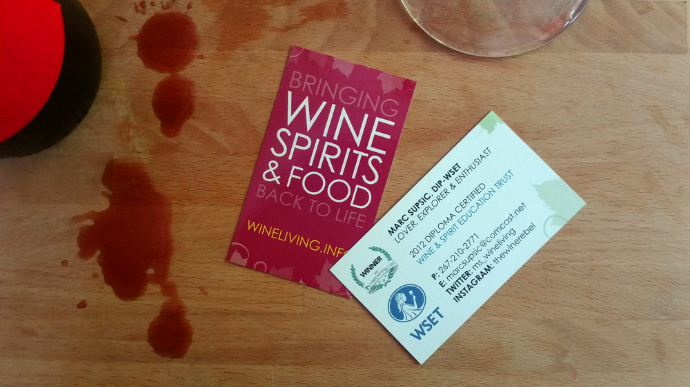 Wine Living Business Cards