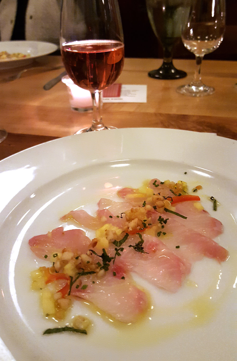 Copy of First course, Kanpachi Crudo