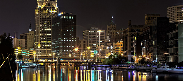 Shot of Milwaukee at Night
