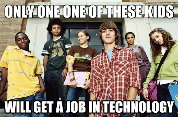 Only one of 6 teens will get a tech job.