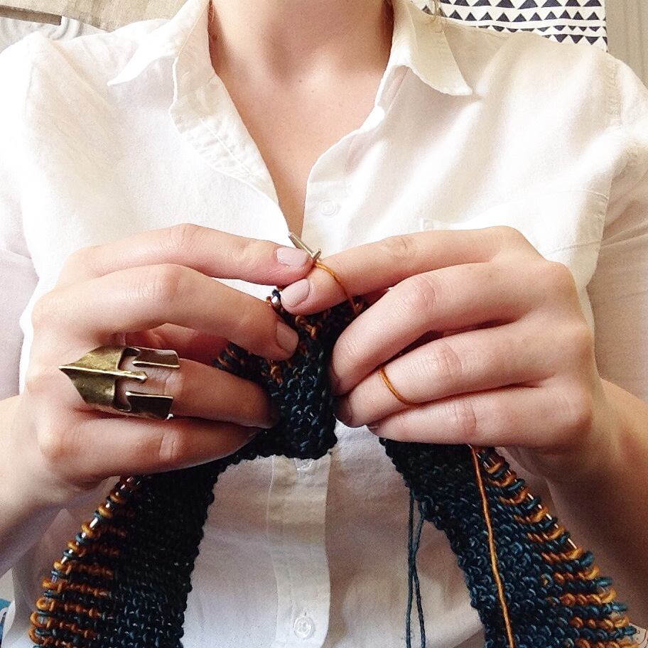 #knittinghands